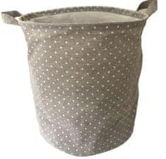 DUE ESSE Látkový skládací koš na prádlo 35 cm, šedý