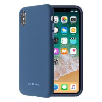 SO SEVEN Smoothie Silikonový Kryt pro iPhone X/XS SSBKC0035, tmavě modrý