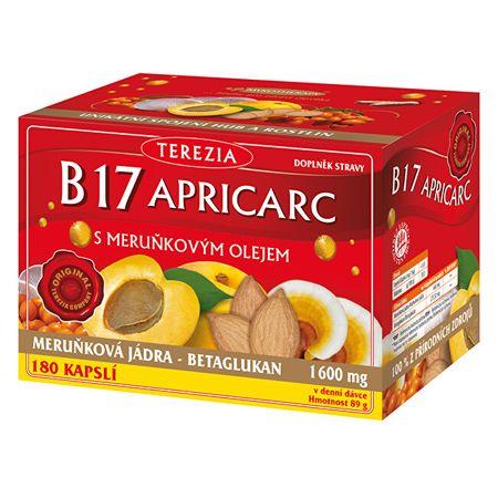 TEREZIA COMPANY B17 APRICARC s marhuľovým olejom 150 kapsúl + 30 kapsúl ZD ARMA