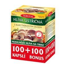TEREZIA COMPANY Hlíva ústřičná se 100% rakytníkovým olejem 100 kapslí + 100 kapslí ZDARMA