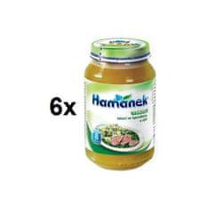Hamánek Telecí se špenátem a rýží 6x230g