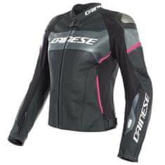 Dainese dámská bunda D-AIR RACING 3 LADY černá/antracit/růžová