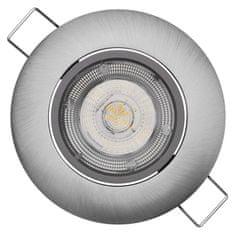 EMOS LED bodové svietidlo Exclusive strieborné, teplá biela (8 W)