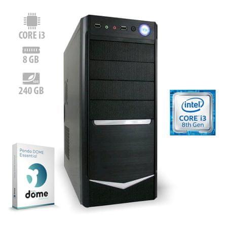 mimovrste=) namizni računalnik Advanced i3-8100/8GB/SSD240GB/FreeDOS (ATPII-CX3-3063)