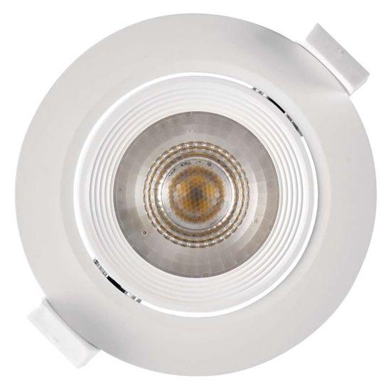 Emos LED bodové svítidlo bílé, kruh, teplá bílá (7 W) - rozbaleno