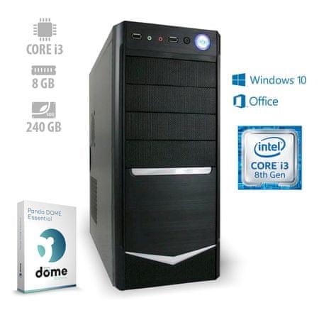 mimovrste=) namizni računalnik Advanced+ i3-8100/8GB/SSD240GB/W10H + 1 leto Office 365 (ATPII-CX3-3065)