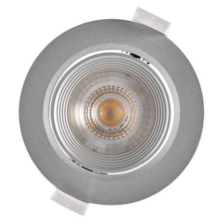 Emos stropna LED svetilka, okrogla, toplo bela, 7 W, srebrna