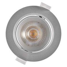 Emos LED bodové svítidlo stříbrné, kruh, neutrální bílá (7 W)
