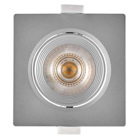 Emos LED bodové svítidlo stříbrné, čtverec, neutrální bílá (7 W)