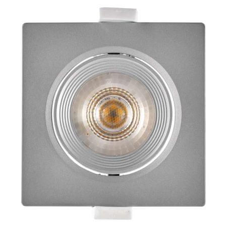 Emos stropna LED svetilka, kvadratna, toplo bela, 7 W, srebrna