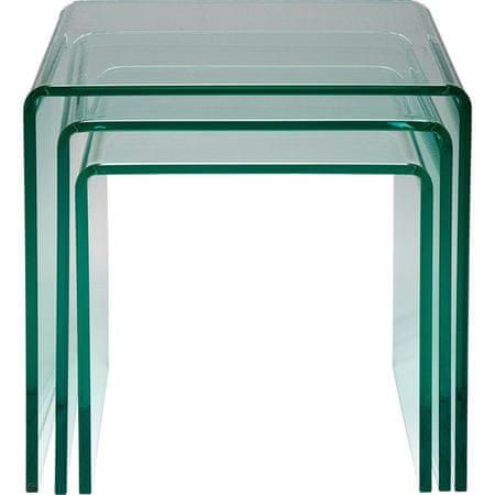 KARE Clear Club - sestava tří stolů
