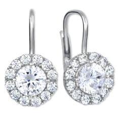 Brilio Silver Stříbrné náušnice s krystaly 436 001 00498 04 stříbro 925/1000