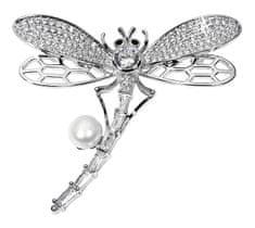 JwL Luxury Pearls Rozkošná brož vážka s pravou perlou JL0514