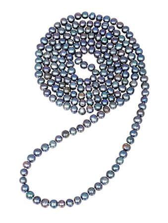 JwL Luxury Pearls Długi naszyjnik wykonany z prawdziwych niebieskich pereł JL0531
