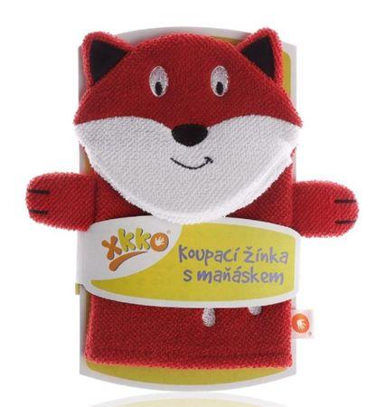 XKKO otroška brisača za kopanje, Lisica, rdeča