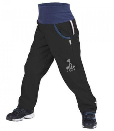 Unuo chlapecké softshellové kalhoty s fleecem 98/104 černá