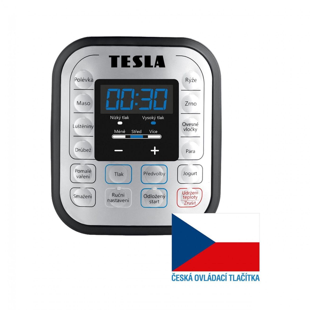 TESLA EliteCook K70 tlačítka v českém jazyce