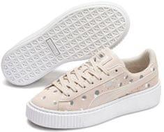 Puma Suede Platform Dots Jr, ženski športni čevlji, bež