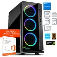 PCplus namizni računalnik GAMER i5-8400/8GB/240GB+1TB/GTX1060/W10H + Office 365 Personal (138173 )