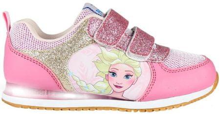 Disney dívčí svítící tenisky Frozen 24 růžová