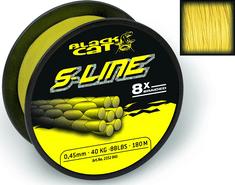 Black Cat Splietaná Šnúra S-Line Žltá