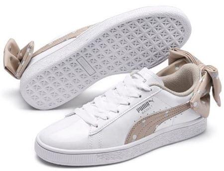 Puma Basket Bow Dots Jr Puma, ženski športni čevlji, beli, 36,5