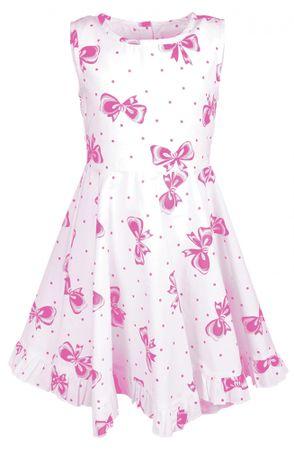 Happy Girls dievčenské šaty 104 biela / ružová