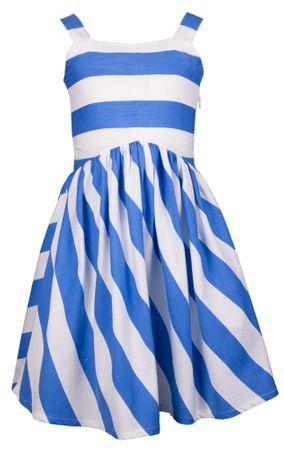 Happy Girls dievčenské šaty 110 biele/modré