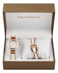 Vera Verona MWF16-038C ženski darilni komplet z uro in zapestnico