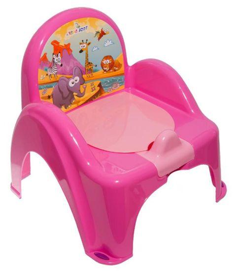 COSING Nočník - židlička, růžová