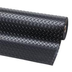 Černá protiskluzová rohož Diamond Plate Runner - 22,8 m a 0,47 cm