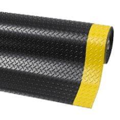 Černo-žlutá protiskluzová rohož Diamond Plate Runner - 22,8 m a 0,47 cm