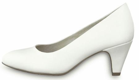 Tamaris czółenka damskie 22416 36 białe