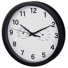 HAMA Pure Plus, zegar ścienny z termometrem / higrometrem, cicha praca (25 cm)