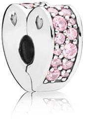 Pandora Błyszczące sercowy klip 797020P CZ srebro 925/1000