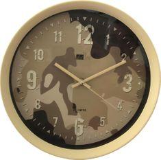 DUE ESSE Nástěnné hodiny Art Home maskovací vzor 28 cm, pískové