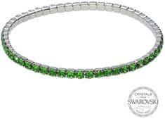 Levien Błyszczące bransoletka z zielonymi kryształami 1459594