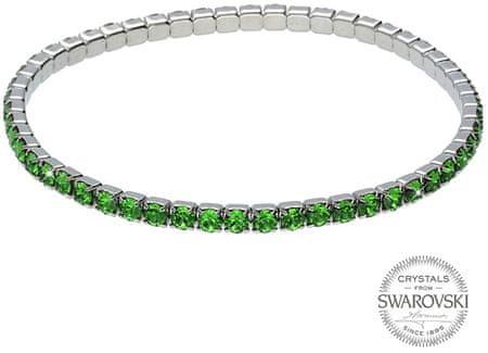 Levien Csillogó karkötő zöld kristályokkal 1459594