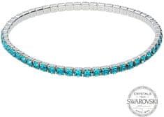Levien Błyszczące bransoletka z turkusowymi kryształami 1464395
