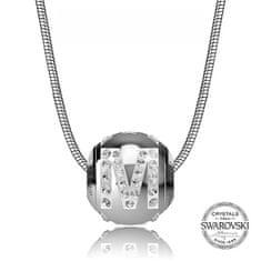 Levien Jeklena ogrlica črka M CLET-M