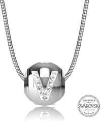Levien Ocelový náhrdelník písmeno V CLET-V
