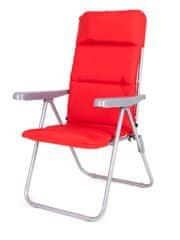 Happy Green Összecsukható kerti szék LOARA 68 × 58 × 107 cm, piros