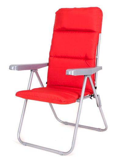 Happy Green Židle zahradní skládací LOARA 68 × 58 × 107 cm, červená - použité