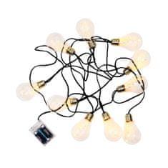 Butlers Světelný řetěz žárovky 10 světel - černá