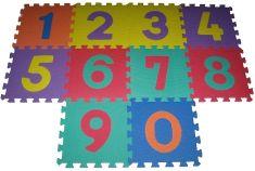 Alltoys puzzle z pianki cyfry 9 sztuk