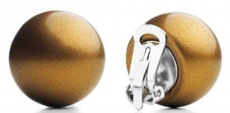 Ballsmania Eredeti fülbevaló O154M 18-0940 Marrone Dorato