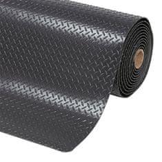Černá protiúnavová průmyslová laminovaná rohož Saddle Trax - 2,54 cm