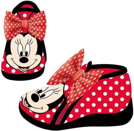 Disney dívčí bačkůrky Minnie 21 červená