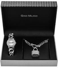 Gino Milano MWF14-044B ženski darilni komplet z uro in ogrlico