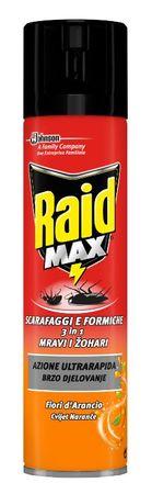 Raid sprej Max protiv insekata, cvijet naranče, 400 ml